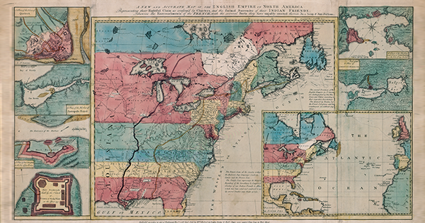 <em>A New and Accurate Map of the English Empire in North America,</em> Society of Anti-Gallicans, London, 1755; Library and Archives Canada/Maps, Plans and Charts Collection/NMC21053.GVV