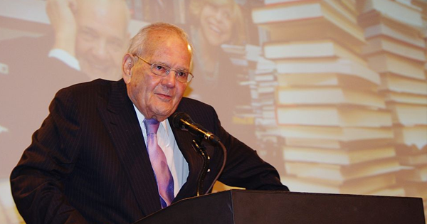 Robert Silvers at the National Book Critics Circle Awards in 2012, where he was awarded the Ivan Sandroff Lifetime Achievement Award (Wikimedia Commons)