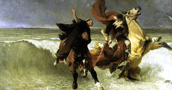 <em>Flight of King Gradlon</em>, Évariste Vital Luminais (Musée des beaux-arts de Quimper/Wikimedia Commons)