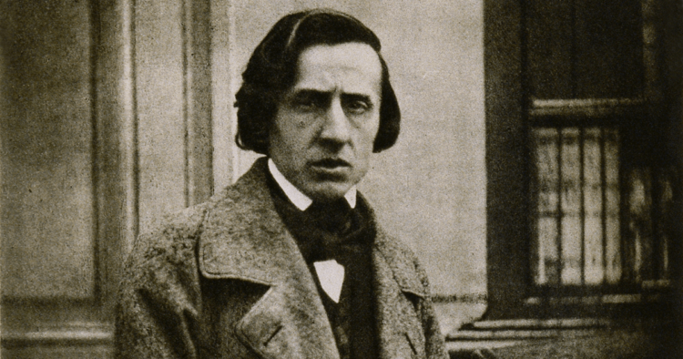 Daguerreotype of Chopin by Louis-Auguste Bisson (c. 1847)