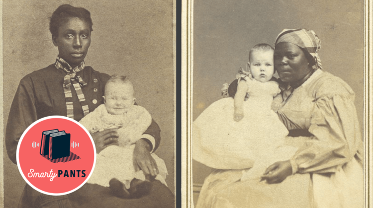 Enslaved women acting as wet-nurses for white babies