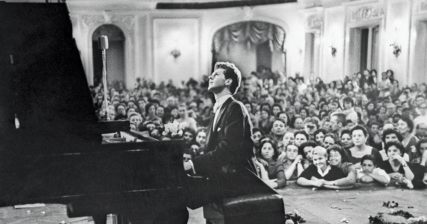 Van Cliburn performing